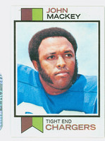 1973 Topps Football 118 John Mackey San Diego Chargers Near-Mint Plus