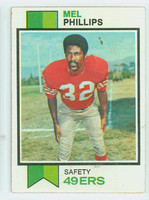 1973 Topps Football 122 Mel Phillips San Francisco 49ers Excellent