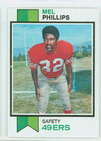 1973 Topps Football 122 Mel Phillips San Francisco 49ers Excellent to Mint