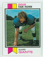 1973 Topps Football 142 Doug Van Horn New York Giants Excellent to Mint