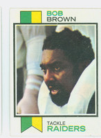1973 Topps Football 160 Bob Brown Oakland Raiders Excellent to Mint
