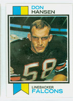 1973 Topps Football 173 Don Hansen Atlanta Falcons Excellent to Mint