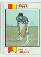 1973 Topps Football 178 John Pitts Buffalo Bills Excellent