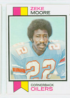 1973 Topps Football 202 Zeke Moore Houston Oilers Excellent to Mint