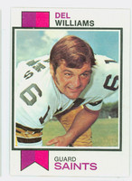 1973 Topps Football 277 Del Williams New Orleans Saints Excellent