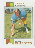 1973 Topps Football 284 Terry Owens San Diego Chargers Excellent