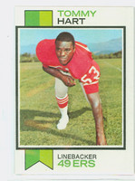 1973 Topps Football 291 Tommy Hart San Francisco 49ers Excellent