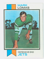 1973 Topps Football 302 Mark Lomas New York Jets Excellent