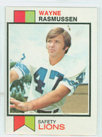 1973 Topps Football 306 Wayne Rasmussen Detroit Lions Excellent to Mint