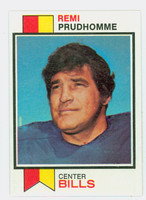 1973 Topps Football 313 Remi Prudhomme Buffalo Bills Excellent