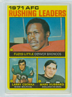 1972 Topps Football 1 AFC Rushing leaders Excellent