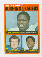 1972 Topps Football 1 AFC Rushing leaders Near-Mint