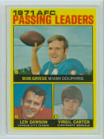 1972 Topps Football 3 AFC passing leaders Excellent to Mint