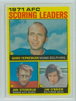 1972 Topps Football 7 AFC Scoring leaders Excellent to Mint