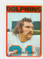 1972 Topps Football 9 Jim Kiick Miami Dolphins Excellent to Excellent Plus