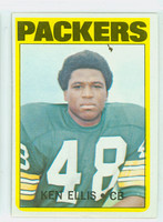 1972 Topps Football 12 Ken Ellis Green Bay Packers Excellent to Excellent Plus