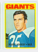 1972 Topps Football 16 Ron Hornsby New York Giants Very Good to Excellent