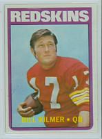 1972 Topps Football 18 Bill Kilmer Washington Redskins Excellent