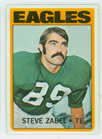1972 Topps Football 21 Steve Zabel Philadelphia Eagles Near-Mint