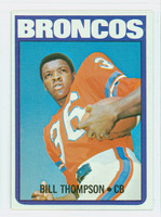 1972 Topps Football 24 Bill Thompson Denver Broncos Excellent to Mint