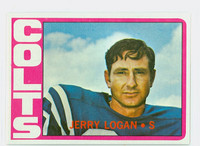 1972 Topps Football 31 Jerry Logan Baltimore Colts Excellent to Mint