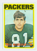 1972 Topps Football 33 Rich McGeorge Green Bay Packers Excellent to Mint