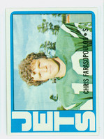1972 Topps Football 36 Chris Farasopoulos New York Jets Very Good to Excellent