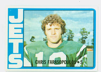 1972 Topps Football 36 Chris Farasopoulos New York Jets Excellent to Mint