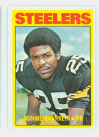 1972 Topps Football 37 Ronnie Shanklin Pittsburgh Steelers Excellent to Mint