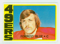 1972 Topps Football 38 Forrest Blue ROOKIE San Francisco 49ers Excellent to Mint