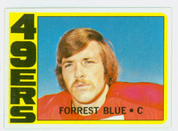 1972 Topps Football 38 Forrest Blue ROOKIE San Francisco 49ers Near-Mint