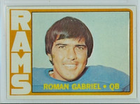 1972 Topps Football 40 Roman Gabriel Los Angeles Rams Excellent to Excellent Plus