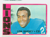 1972 Topps Football 42 Lem Barney Detroit Lions Excellent to Mint