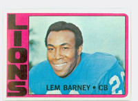 1972 Topps Football 42 Lem Barney Detroit Lions Near-Mint
