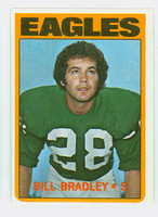1972 Topps Football 45 Bill Bradley ROOKIE Philadelphia Eagles Excellent to Mint