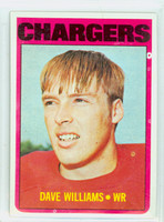 1972 Topps Football 47 Dave Williams San Diego Chargers Excellent to Excellent Plus