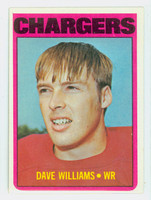 1972 Topps Football 47 Dave Williams San Diego Chargers Excellent to Mint