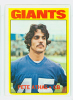 1972 Topps Football 48 Pete Athas New York Giants Excellent