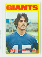 1972 Topps Football 48 Pete Athas New York Giants Excellent to Excellent Plus
