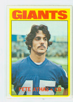 1972 Topps Football 48 Pete Athas New York Giants Excellent to Mint
