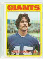 1972 Topps Football 48 Pete Athas New York Giants Near-Mint