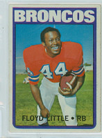 1972 Topps Football 50 Floyd Little Denver Broncos Excellent to Mint