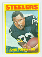 1972 Topps Football 77 John Fuqua Pittsburgh Steelers Excellent to Mint