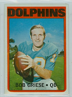 1972 Topps Football 80 Bob Griese Miami Dolphins Excellent to Excellent Plus