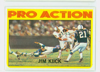 1972 Topps Football 121 Jim Kiick IA Miami Dolphins Excellent to Mint