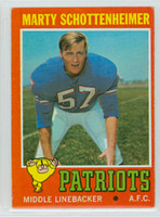 1971 Topps Football 3 Marty Schottenheimer ROOKIE Boston Patriots Very Good to Excellent