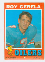 1971 Topps Football 14 Roy Gerela ROOKIE Houston Oilers Excellent to Mint