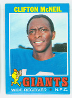 1971 Topps Football 15 Clifton McNeil New York Giants Excellent to Mint