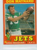 1971 Topps Football 19 Don Maynard New York Jets Excellent to Mint