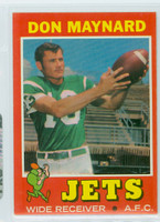 1971 Topps Football 19 Don Maynard New York Jets Near-Mint